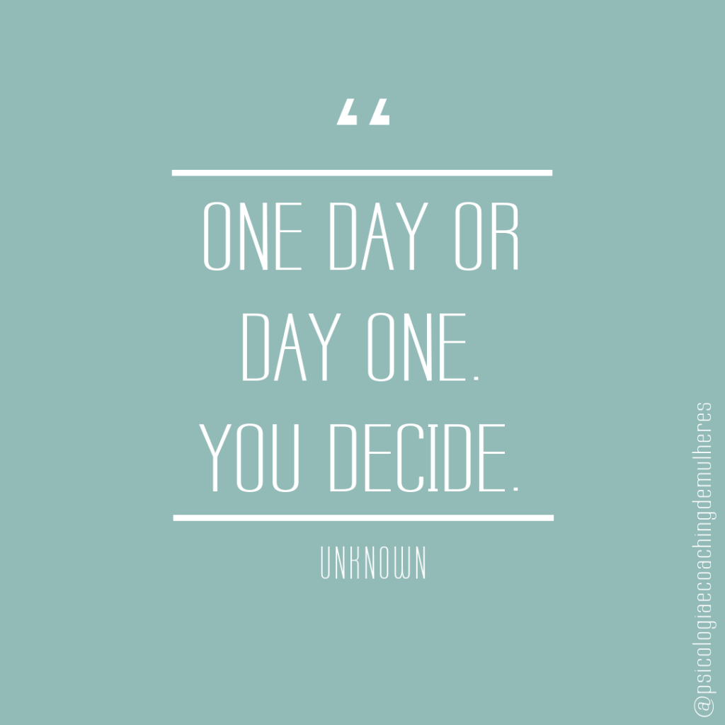 One day or day one. You decide - Unknown