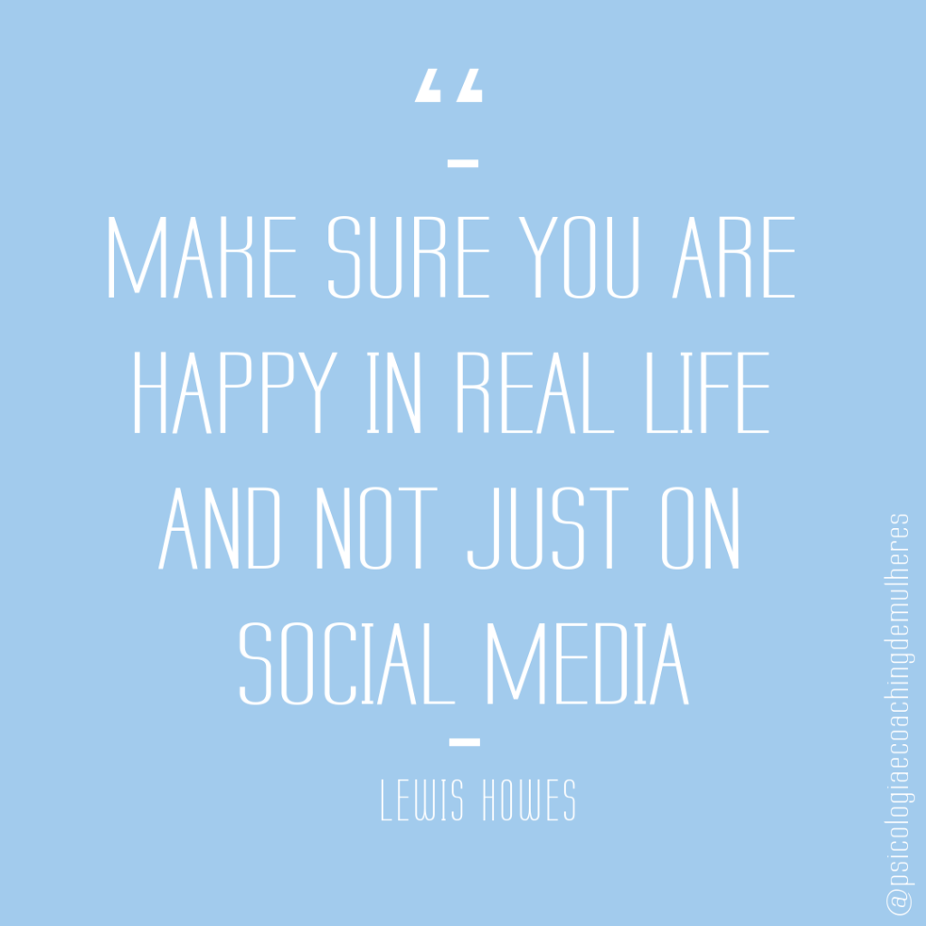 Make sure you are happy in real life and not just on social media - Lewis Howes
